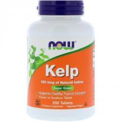 Растительный препарат NOW Foods, Kelp, 150 мкг, 200 таблеток