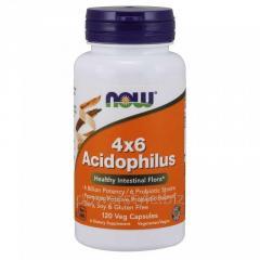 Пробиотики NOW Foods, 4×6 Acidophilus, 120
