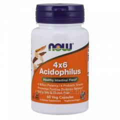 Пробиотики NOW Foods, 4×6 Acidophilus, 60