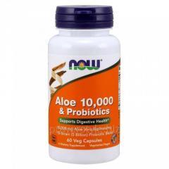 Пробиотики NOW Foods, Aloe 10,000 &