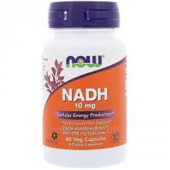 Витамины NOW Foods, NADH, 10 мг, 60 вегетарианских