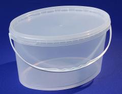 Buckets plastic oval 5,9 l
