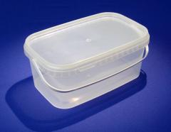 Buckets plastic rectangular 3,4 L with the handle