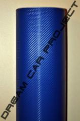 Пленка под карбон 3Д (виниловая пленка), синий
