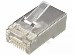 Штекер компьтерный 8р8с (RJ-45) экранированны