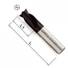 Сверло d8mm, L45mm с титановым покрытием для