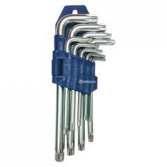 Набор ключей TORX с отверстием Г-образных 9ед.