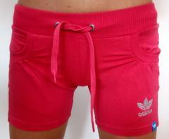 Женские спортивные шорты Adidas,трикотаж