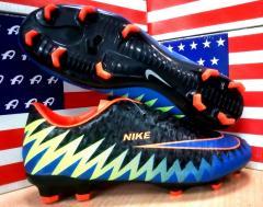 Бутсы мужские Nike Mercurial CR7 (черный с синим и