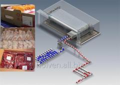 Спиральная заморозки мясных продуктов