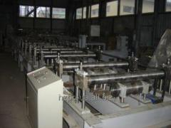The line for production of a metal siding the