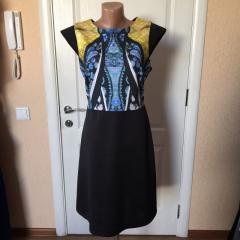 Платье женское летнее черное с принтом короткое