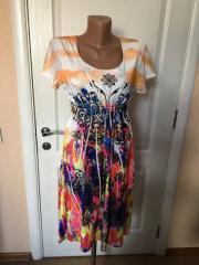 Платье женское летнее цветное короткий рукав