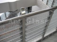 Protections glass for ladders and steps with