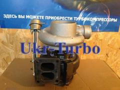 The turbine (turbocompressor) on the CASE Tractor