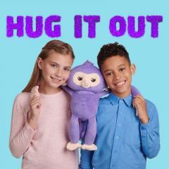 Мягкая интерактивная обезьянка-обнимашка Кики Wow