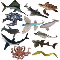 Набор игрушек для ванной Животные океана и морские