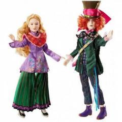 Набор кукол Безумный Шляпник и Алиса в Зазеркалье