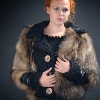 Fur coat from astrakhan fur
