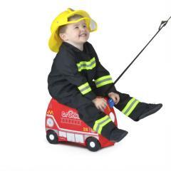 Чемодан детский на колесах Frank Fireman Trunki