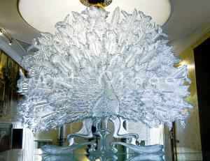 Products from glass interior, jewelry, a decor of