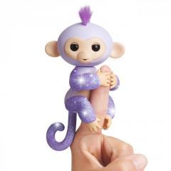 Электронная обезьянка на палец блестящая Кики