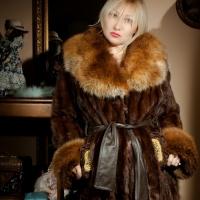 Fur coat, coat with a fur collar Kiev, Kharkiv, a