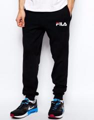Спортивные штаны Фила, штаны мужские Fila, черные,