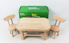 Набор деревянной мебели для кукол Эко игрушка