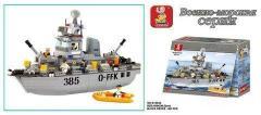 Конструктор SLUBAN Военный корабль Эсминец...