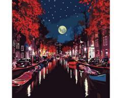 Картина по номерам Роспись на холсте Городской
