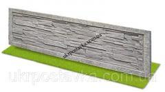 Плита еврозабора песчаник в рамке