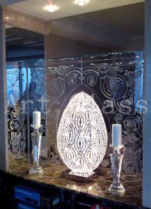 Зеркала настольные с дизайнерским декором по...