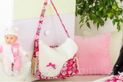 Сумка для коляски (Сумка для мамы) розовая