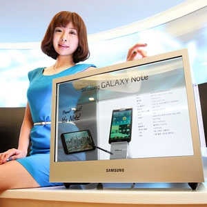 Transparent LCD displays of Samsung