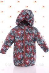 Куртка Евро серая в снежинку