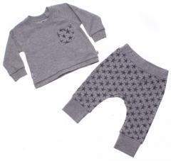 Фуфайка+брюки д/х Bibaby, колір: м-сірий, розмір: