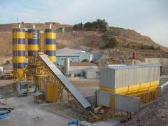 Stationary concrete plants