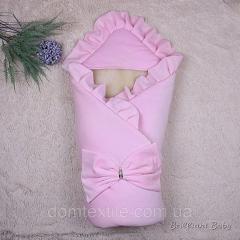 Зимний велюровый конверт Мария (розовый)