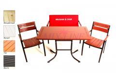 Комплект Стелла (стол + 2 стула + скамейка)