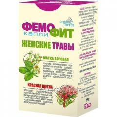 Капли Organic Herbs Фемофит Объём 50мл