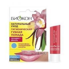 Гигиеническая губная помада Орхидея + Ваниль ТМ Биокон 4,6 г