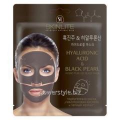 Гидрогелевая маска Черный жемчуг и гиалуроновая