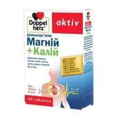 Доппельгерц Актив Магний+Калий таблетки 1730мг №30