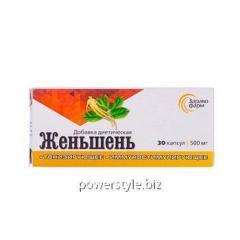 Женьшень капсулы №30 по 500 мг