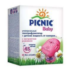 Комплект Пикник Бэби электрофумигатор и жидкость от комаров 30мл