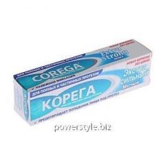 Корега Екстра сильный мятный крем для фиксации протезов 70г