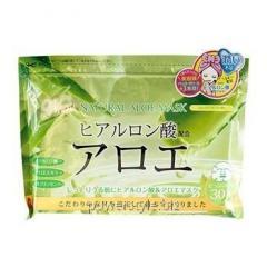 Курс натуральных масок для лица ТМ Джепен Гелс / Japan Gals с экстрактом алоэ №30