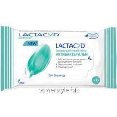 Лактацид салфетки антибактериальные для интимной