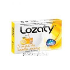 Леденцы для горла Lozaty Мед та Лимон №12